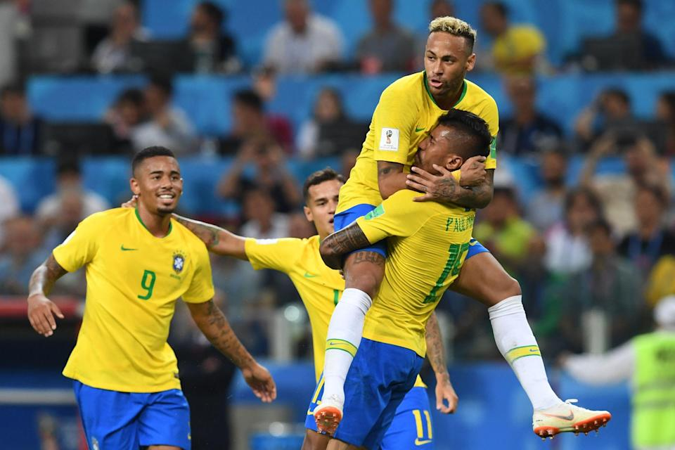 Brazil won Group E with a 2-0 victory over Serbia at the 2018 World Cup. (Getty)