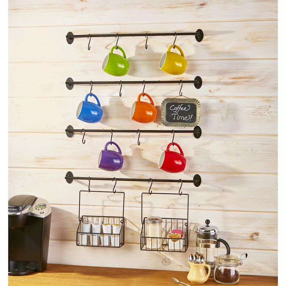 "<h3><a href=""http://goto.target.com/AqWv1"" rel=""nofollow noopener"" target=""_blank"" data-ylk=""slk:Lakeside Wall Rack"" class=""link rapid-noclick-resp"">Lakeside Wall Rack</a></h3><br><strong>When you're rich in mugs but poor in cabinet space:</strong> Let everything from your prized Ruth Bader Ginsberg to trendy glazed stoneware and chipped alma-mater cup dangle in organized style for all to behold.<br><br><strong>Lakeside Collection</strong> Wall Rack For Coffee Mugs, $, available at <a href=""https://go.skimresources.com/?id=30283X879131&url=https%3A%2F%2Fgoto.target.com%2FAqWv1"" rel=""nofollow noopener"" target=""_blank"" data-ylk=""slk:Target"" class=""link rapid-noclick-resp"">Target</a>"