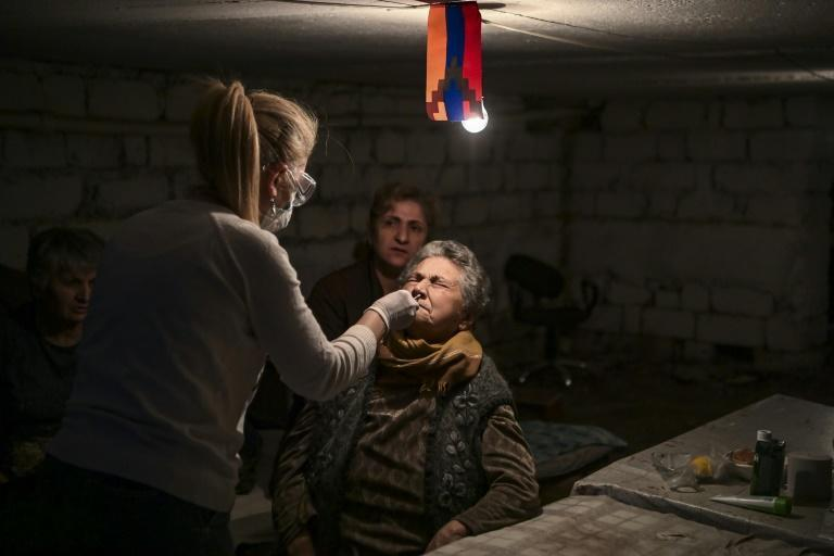 The dingy basements used as bomb shelters in Stepanakert are an ideal place for the coronavirus to spread