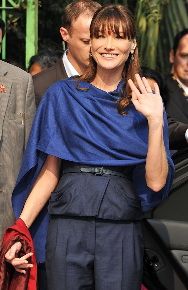 Carla Bruni's birthday is December 23rd. She turns 44.