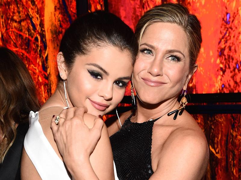 Selena Gomez and Jennifer Aniston InStyle 2015 event Getty Images