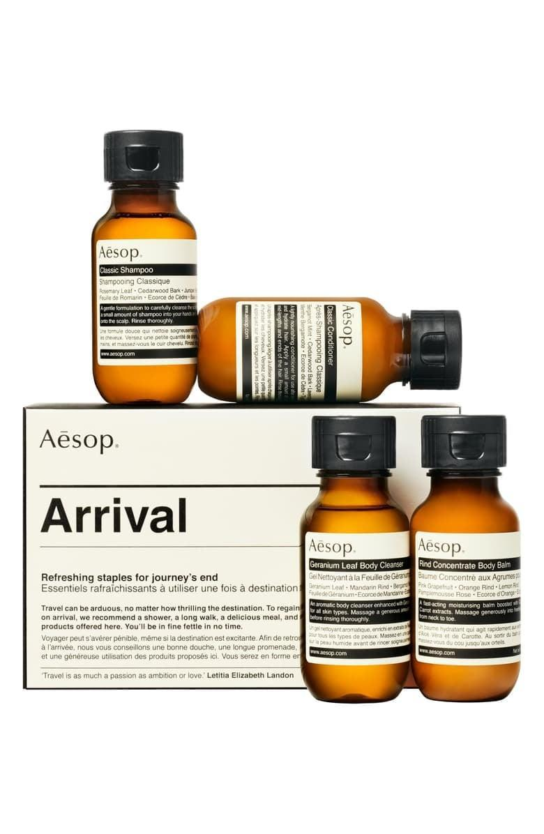 <p>They'll be able to travel with their favorite products on hand with this <span>Aesop Arrival Travel Kit </span> ($35).</p>