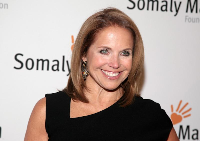 """FILE - This Oct. 23, 2013 file photo shows TV host Katie Couric at the Somaly Mam Foundation Gala in New York. Couric is calling it quits on her weekday talk show as she heads to Yahoo. Couric and Disney-ABC, which produces the syndicated """"Katie"""" show, said Thursday, Dec. 19, 2013 it will wrap after this, its second season. (Photo by Andy Kropa/Invision/AP, File)"""