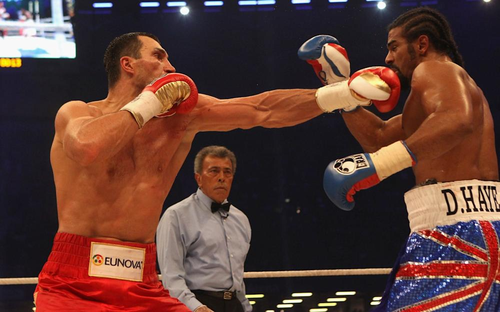 Klithscko's 'jab and grab' was used to great effect against David Haye - Credit: bongarts