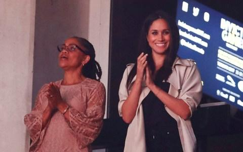 Meghan Markle with her mother, Doria - Credit: Mark Blinch