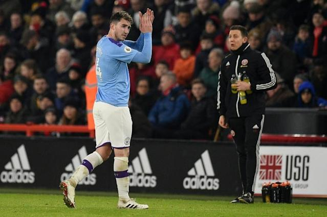 Manchester City defender Aymeric Laporte is back in action after missing a large chunk of the season (AFP Photo/Oli SCARFF )