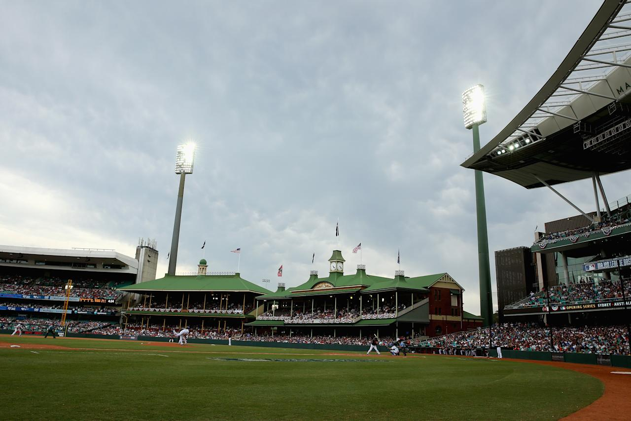 SYDNEY, AUSTRALIA - MARCH 23:  A general view is seen during the MLB match between the Los Angeles Dodgers and the Arizona Diamondbacks at Sydney Cricket Ground on March 23, 2014 in Sydney, Australia.  (Photo by Mark Kolbe/Getty Images)