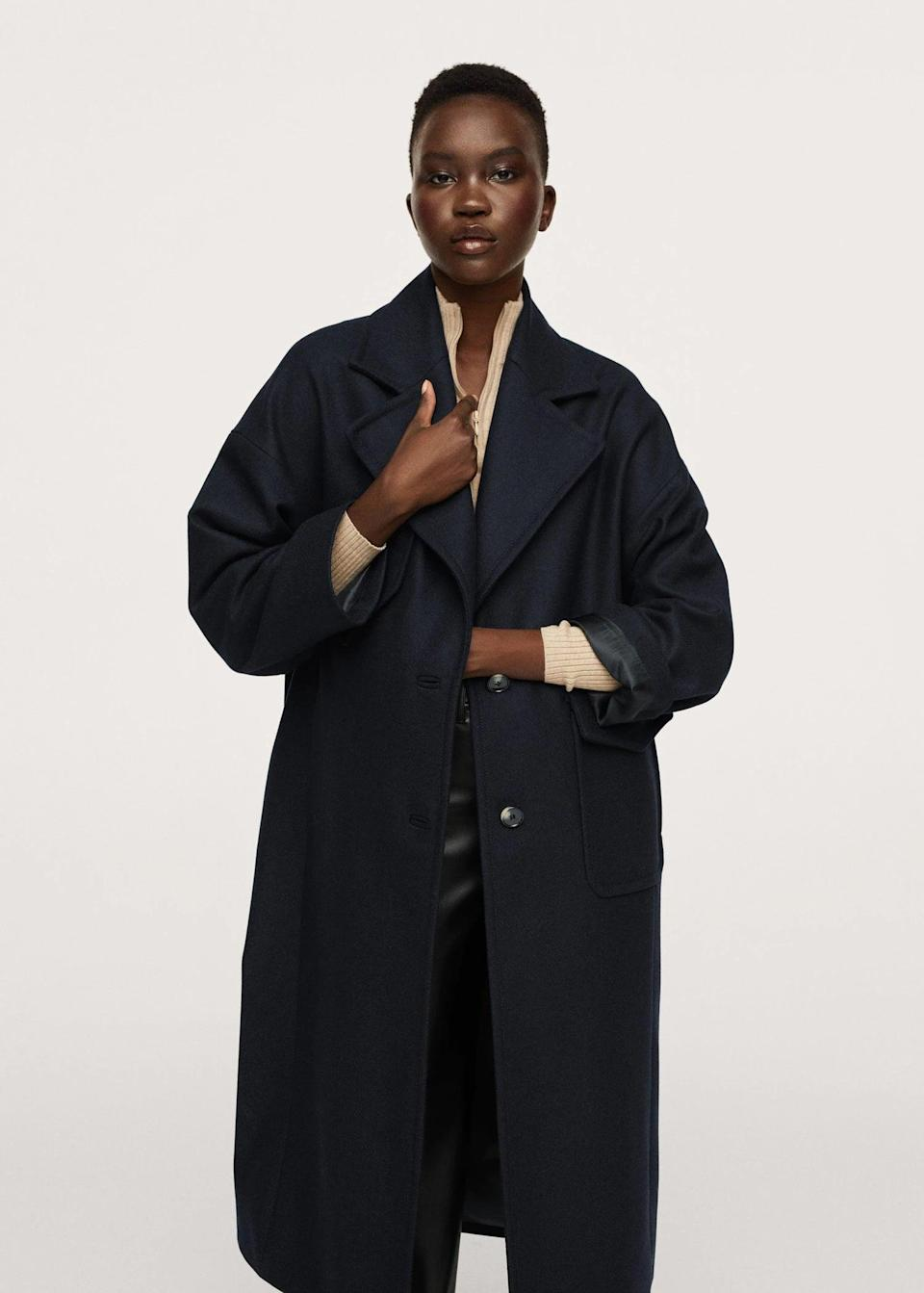 <p>This <span>Pocketed Wool Coat</span> ($230) has enduring appeal, making it an investment you'll reach for season after season. With its crisp presentation and classic silhouette, it's a failsafe fall coat.</p>