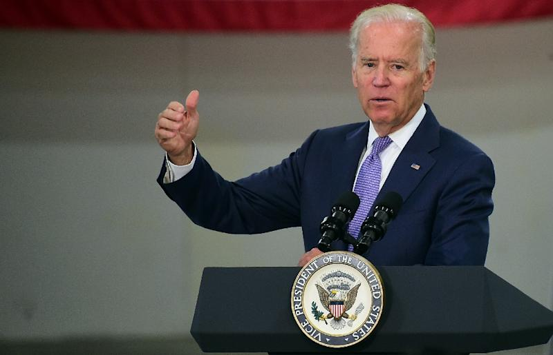 A top Hillary Clinton staffer says her campaign team is unfazed by news Vice President Joe Biden, pictured in July, is considering to a White House bid (AFP Photo/Frederic J. Brown)