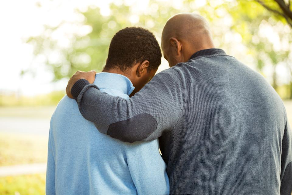 """Taking care of someone with mental health issues can be difficult on your own mood - but can you """"catch"""" someone's depression? Image via Getty Images."""