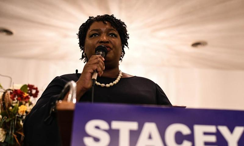 Stacey Abrams' campaign team said they were still counting votes.