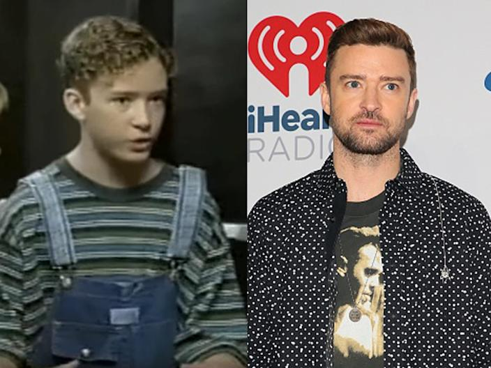 """Timberlake on """"The Mickey Mouse Club"""" in the early '90s and at the 2018 iHeartRadio Music Festival."""