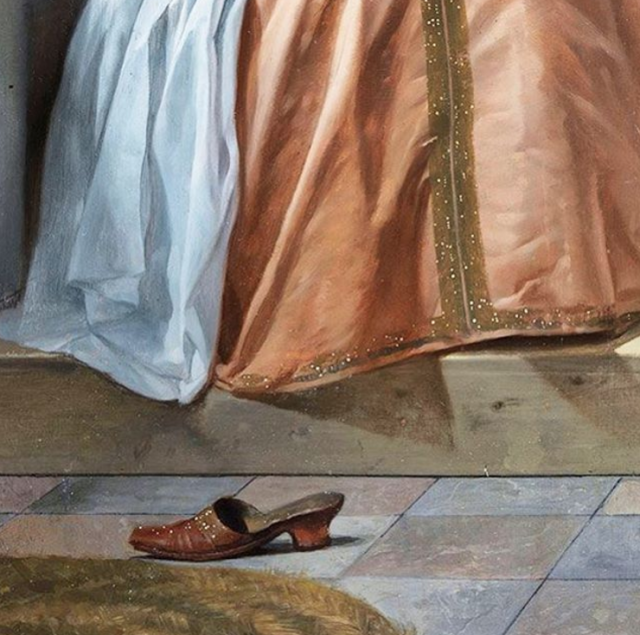 <p>A shoe without a foot is an uncommon sight in classical art, but in the case of this Baroque painting, the choice was very intentional. </p>