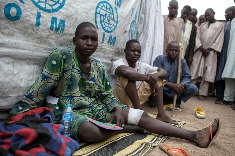 Banki was recaptured by the army in September 2015 but many are still injured by mines when venturing out
