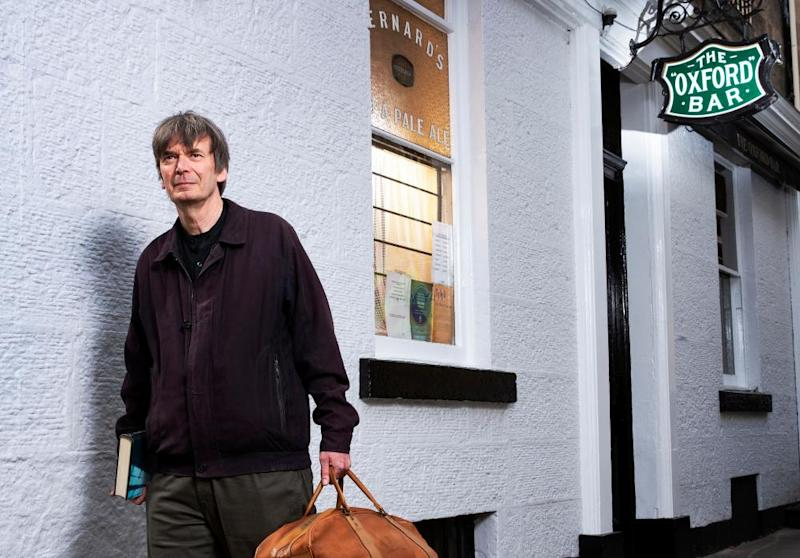 Edinburgh writer Ian Rankin exploring the city