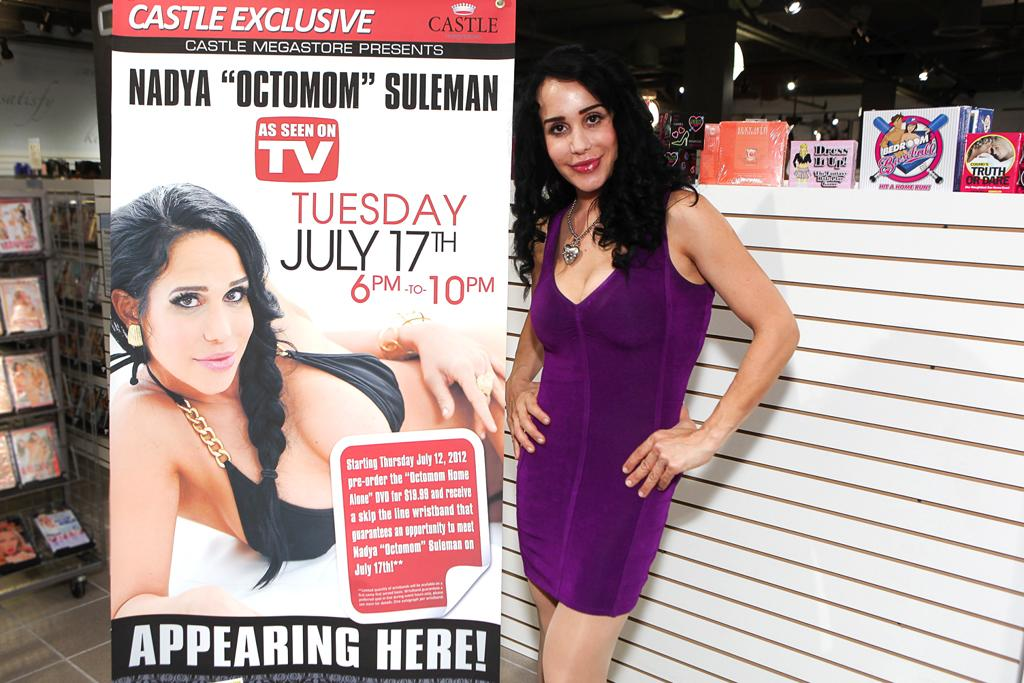 "<p class=""MsoNormal"" style="" "">Nearly four years after she shocked the world by giving birth to octuplets, Nadya Suleman did a good job of keeping her name in the news in 2012 for everything from filing for bankruptcy to making porn to heading to rehab. It all began in April when the single mother of 14's hairdresser went to police after witnessing the youngest eight being locked outside in their diapers and forced to use the bathroom on portable training potties in the backyard because the family's toilets were broken inside … and all while Octomom got her hair styled. A few days later, she filed for bankruptcy with debts totaling nearly $1 million as she also faced eviction for failing to pay her mortgage for over a year. But Octomom was able to pull herself out of debt – by making a solo porn video, which she then promoted by stripping at a nightclub in Florida. Although she managed to find her family of 15 a brand new home in October, shortly thereafter Octomom checked into rehab for a dependency to Xanax just before Halloween.</p>"