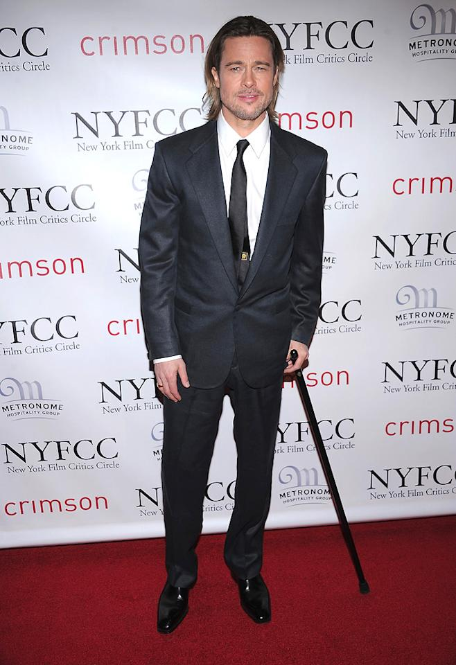 "<a href=""http://movies.yahoo.com/movie/contributor/1800018965"">Brad Pitt</a> at the 2011 New York Film Critics Circle Awards in New York City on January 9, 2012."