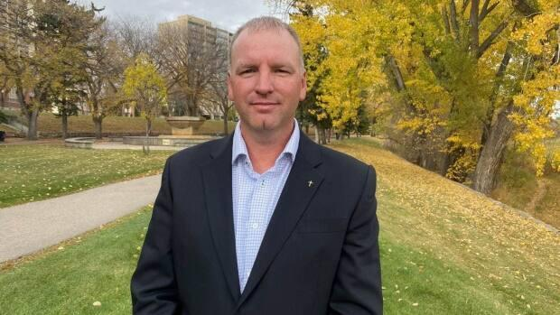 Wade Sira was the interim leader of Saskatchewan's Buffalo Party until Aug. 31. The decision was made on the night of August 30.  (Don Sommers/CBC - image credit)