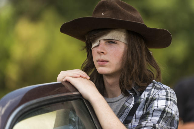 <p>As a kid, Carl was a liability. He's learned to shoot and kill walkers, but teen Carl is still a liability. He makes dumb choices (like trying to assassinate Negan in his own compound). His friendship with Michonne is cute, though.<br><br>(Photo: AMC) </p>