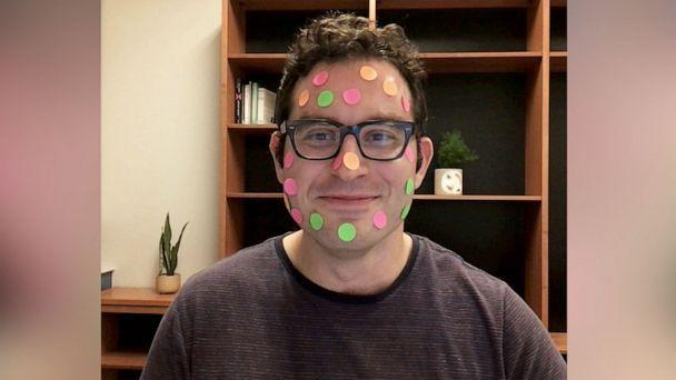 PHOTO: Arber Tasimi, 31, a psychology professor at Emory University, uses stickers to keep his students engaged during remote learning. (Arber Tasimi)