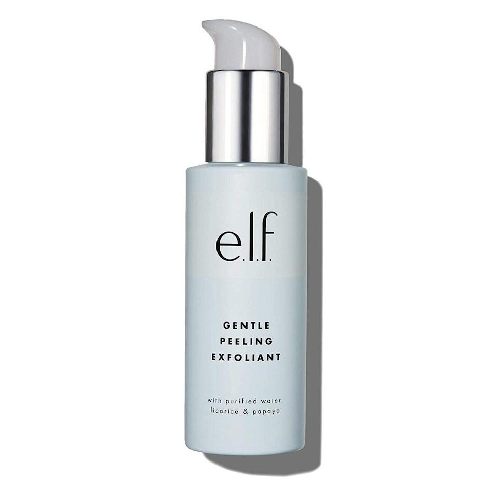 """Don't let its name mislead you — E.L.F.'s Gentle Peeling Exfoliant is more of a face wash than a scrub. In fact, it's gentle enough for daily use if you're prone to oil buildup and clogged pores. <em>Allure</em> editors particularly love the way this <a href=""""https://www.allure.com/review/elf-gentle-peeling-exfoliant?mbid=synd_yahoo_rss"""" rel=""""nofollow noopener"""" target=""""_blank"""" data-ylk=""""slk:Best of Beauty winner"""" class=""""link rapid-noclick-resp"""">Best of Beauty winner</a> visibly shucks off dead skin cells."""