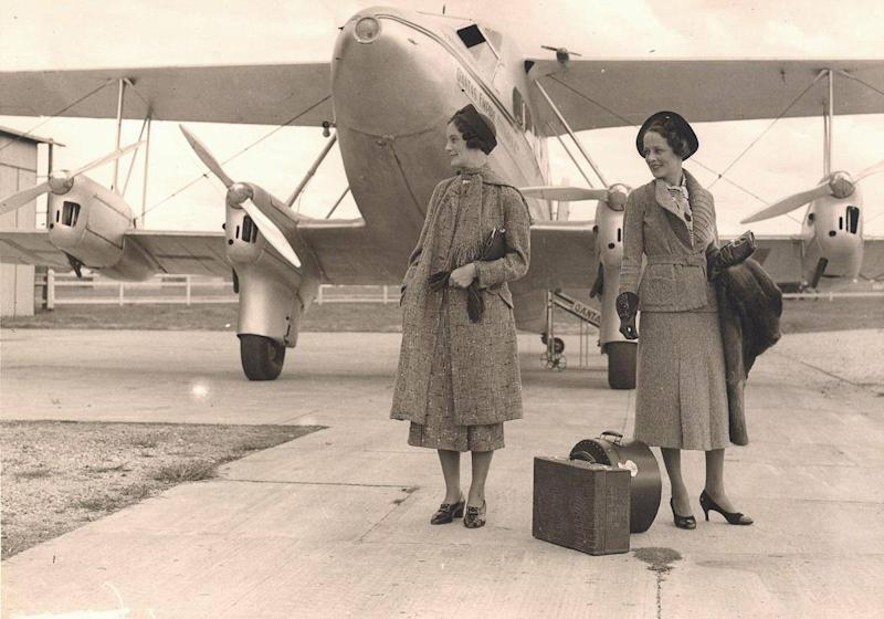 Old style: Qantas flight attendants in the 1930s (Qantas)