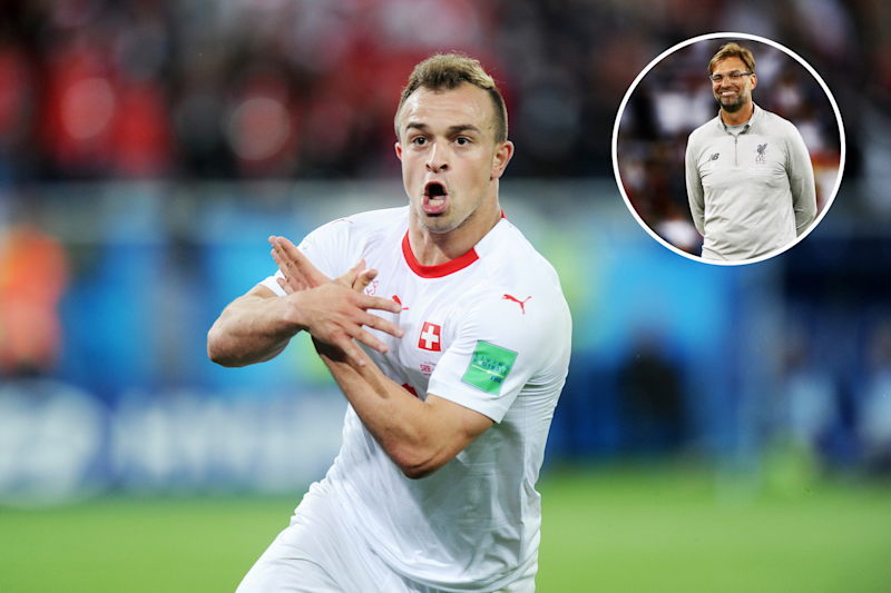 Switzerland star Xherdan Shaqiri could be set for a big move to Liverpool from recently-relegated Stoke according to reportsMore