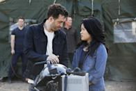 """<p><b>This Season's Theme: </b> Executive producer Nick Wootton says the theme of the show has been the same from the beginning: """"The evolution of, especially, Walter, but also the entire team from robot to human."""" <br><br><b>Where We Left Off: </b> Walter had just admitted he loves Paige – though not <i>to</i> Paige. Toby had just proposed to Happy, and she revealed that she was already married. <br><br><b>Coming Up: </b> """"We've broken out two times as much emotional story for this season than we have in any previous season,"""" says Wootton. """"It's really fun for us to thread through all the action."""" The team will make time to go to space; they shot some weightlessness scenes for the Area 51 episode last year and liked it so much, they decided to go all the way. <br><br><b>Secret Hubby: </b> We'll find out who Happy is married to within the first six episodes, and you can't stop reading fan theories – the character isn't one we've seen or heard about yet. <i>– RC</i> <br><br>(Credit: Richard Cartwright/CBS)</p>"""