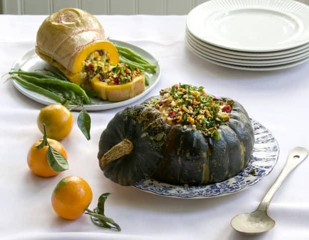 Make vegetables the star of the show with dramatic, stuffed winter squashes on the Thanksgiving table this year. (Julie Van Rosendaal/CBC - image credit)