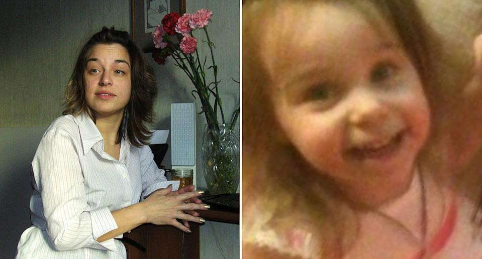 Pictured are Natalya Lvovna Belova (left) and her seven-year-old daughter, Vera (right). The pair died in a building fire in Russia.