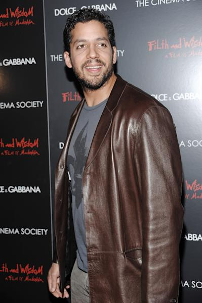 """FILE - This Oct. 13, 2008 file photo shows David Blaine attending a Cinema Society and Dolce Gabbana hosted special screening of """"Filth and Wisdom"""" in New York. Blaine is returning to New York City Oct. 5-8, 2012 for a three day, three night stunt called """"Electrified: One Million Volts Always On."""" The stunt will be open to the public where they can type messages to Blaine, control the electricity around him and basically help keep the magician alert. It will also be streamed on YouTube thanks to computing company Intel, with viewing stations in London, Beijing, Tokyo and Sydney. (AP Photo/Evan Agostini, file)"""