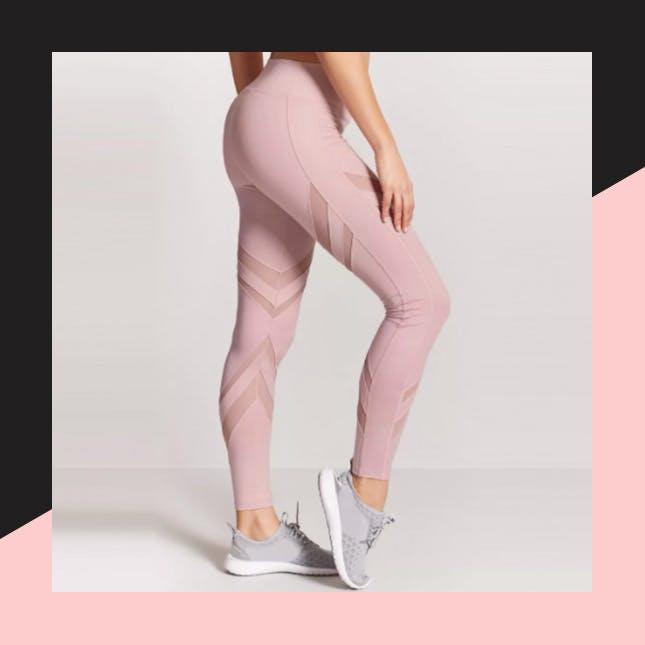 6ea5b4b846d44d Forever 21 Active Mesh-Panel Leggings ($20): These $20 millennial pink  workout pants are every bit as cute and trendy as any $100 counterpart.