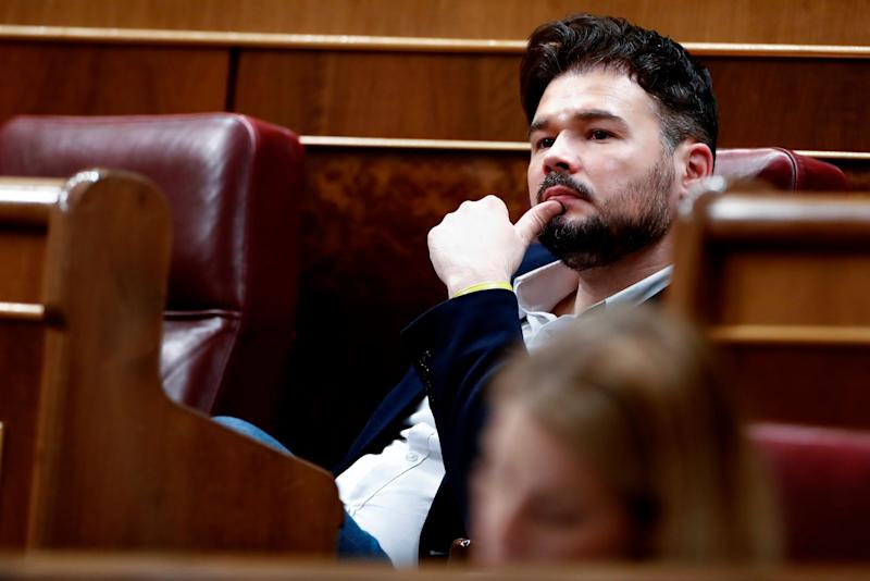 Gabriel Rufian en el Congreso. (Photo: GTRES)