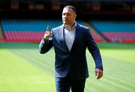 FILE PHOTO: Boxing - Anthony Joshua and Kubrat Pulev Press Conference - Cardiff, Britain - September 11, 2017 Kubrat Pulev after the press conference Action Images via Reuters/Andrew Couldridge