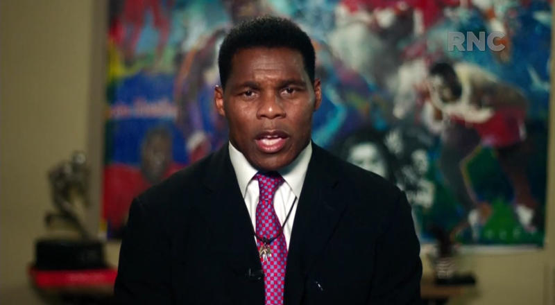 Herschel Walker speaks during the virtual Republican National Convention on August 24, 2020. (via Reuters TV)