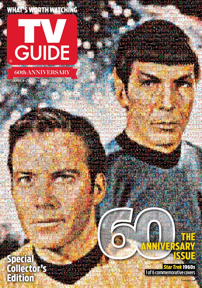 "TV Guide 60th Anniversary cover featuring ""Star Trek."""