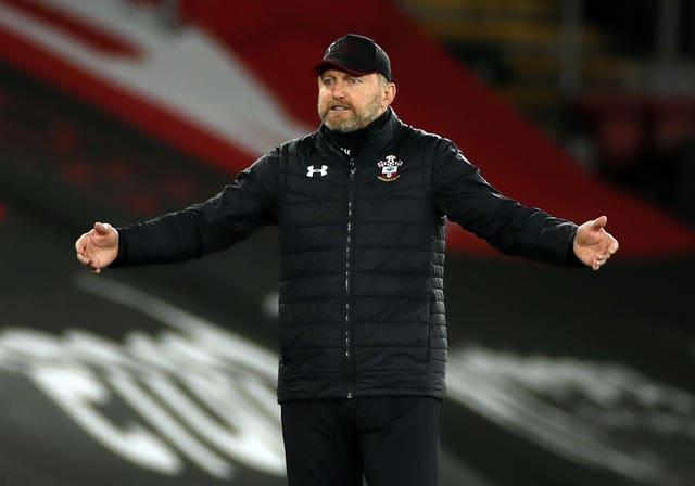 Southampton manager Ralph Hasenhuttl spreads his arms