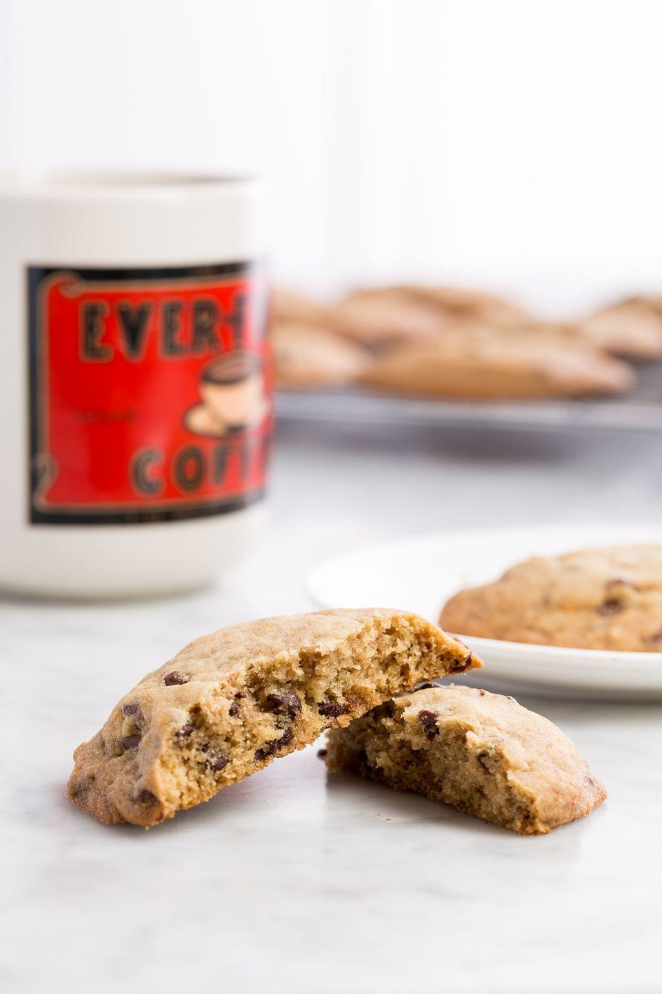 "<p>Mini chocolate chips are a must.</p><p>Get the recipe from <a href=""/cooking/recipe-ideas/recipes/a46165/copycat-panera-chocolate-chip-cookies-recipe/"" data-ylk=""slk:Delish"" class=""link rapid-noclick-resp"">Delish</a>.</p>"