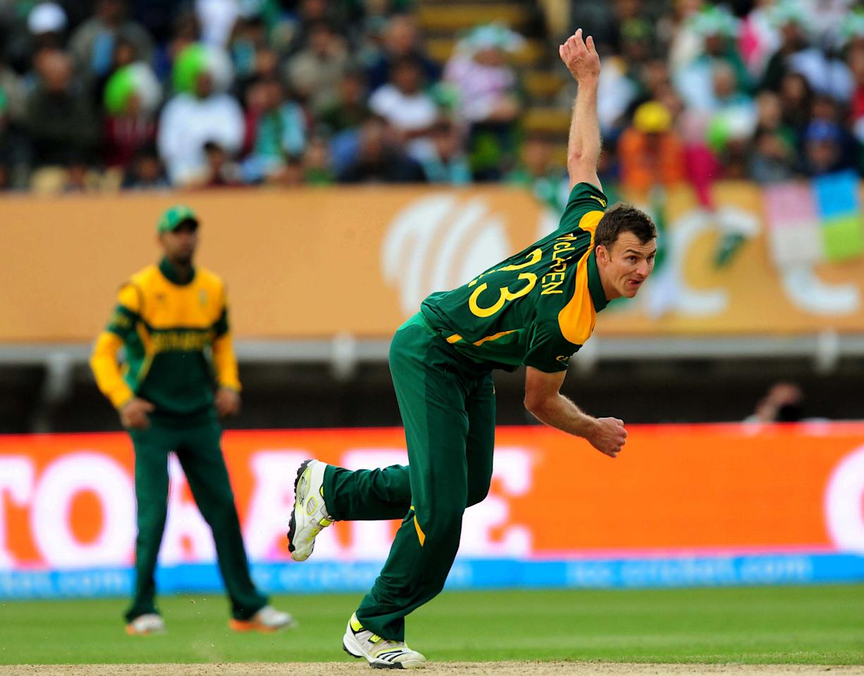 South Africa's Ryan McLaren during the ICC Champions Trophy match at Edgbaston, Birmingham.