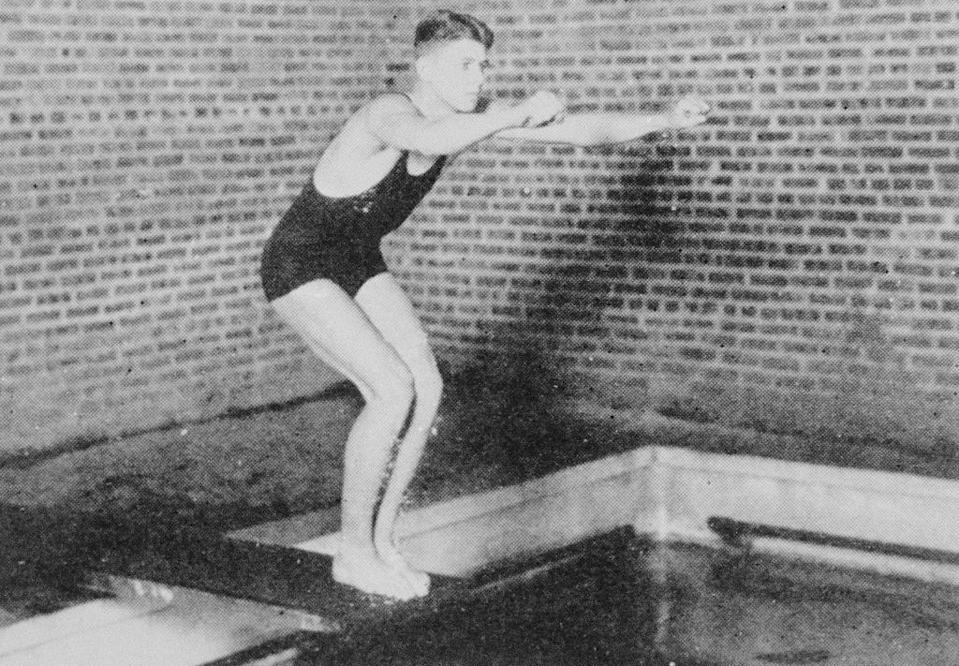 """<p>While it's widely known that Ronald Reagan had an established acting career before his presidency, his time as a collegiate athlete is less known. During his time at Eureka College in the '30s, Reagan was a <a href=""""https://www.upi.com/News_Photos/view/upi/9df92af123653938734bef087c23bcfe/RONALD-REAGAN-ON-SWIM-TEAM-AT-EURKEA-COLLEGE/"""" rel=""""nofollow noopener"""" target=""""_blank"""" data-ylk=""""slk:member of the swim team"""" class=""""link rapid-noclick-resp"""">member of the swim team</a>. </p>"""