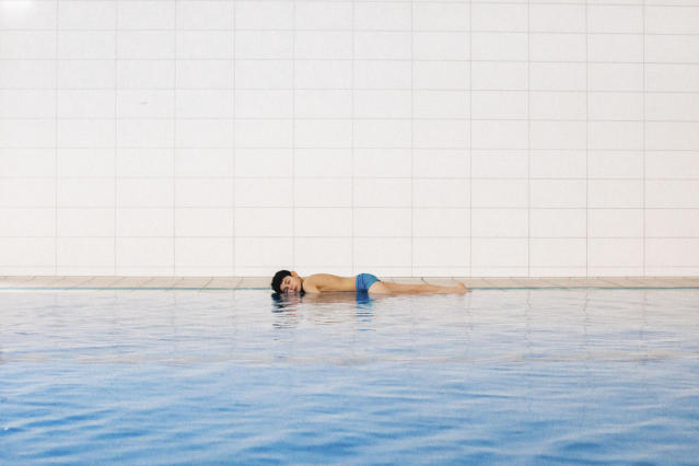 "<p>Doud, age 11, Wolfsburg, Germany, 2017. ""It was night when Doud boarded a small rubber boat. It was his first time seeing the ocean, and now he was amongst a group of refugees, escaping their homes in search of freedom elsewhere. Doud didn't know how to swim and feared the boat would sink. A year later, now in Germany, he is with a handful of other refugees learning to swim as a way of overcoming their fear of water associated with the journey they made to Europe. When I look at this image, I see the trauma that accompanied Doud's sacrifice. It's a constant duality for me: there's no freedom without that risk."" (© Diana Markosian /Magnum Photos) </p>"
