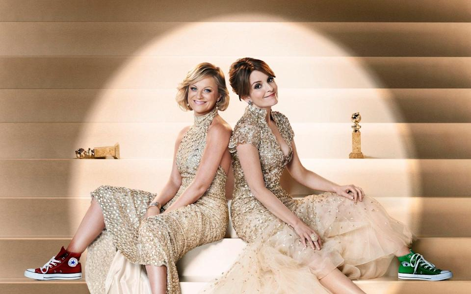 Like moths to the light: Poehler and Fey hosting the Globes in 2013 - NBC
