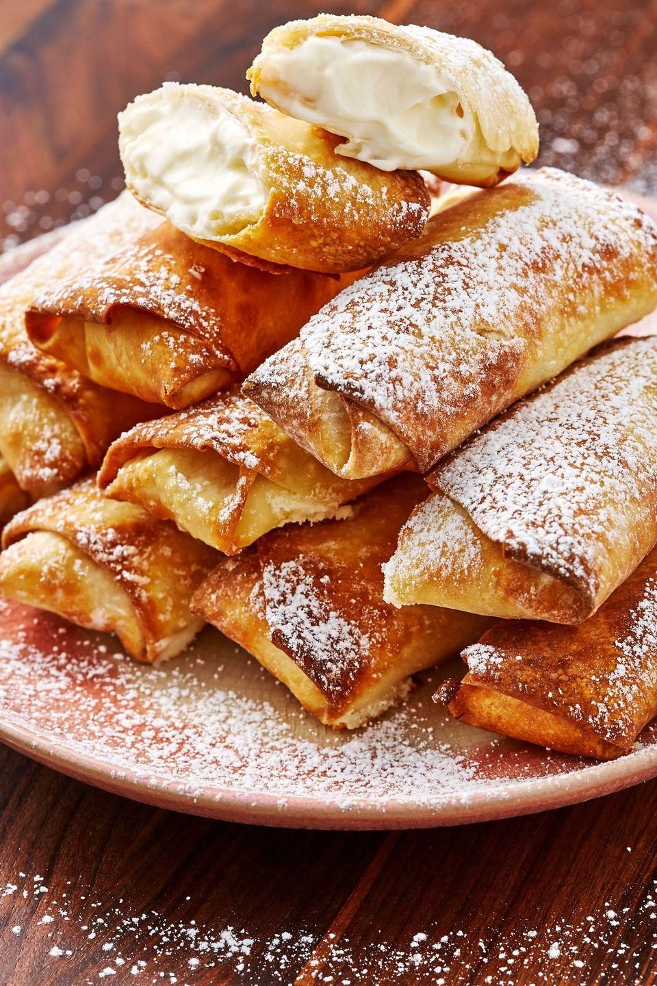 """<p>Wanna make your cheesecake even better? Make them egg rolls. </p><p>Get the recipe from <a href=""""https://www.delish.com/cooking/recipe-ideas/recipes/a57247/cheesecake-egg-rolls-recipe/"""" rel=""""nofollow noopener"""" target=""""_blank"""" data-ylk=""""slk:Delish"""" class=""""link rapid-noclick-resp"""">Delish</a>.</p>"""