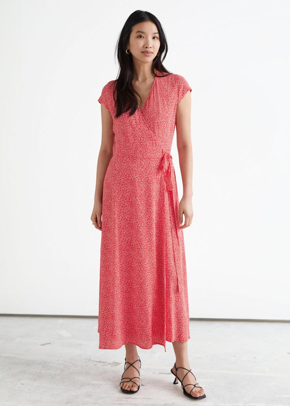 <p>This <span>&amp; Other Stories Floral Midi Wrap Dress</span> ($99) is perfect for park picnics.</p>