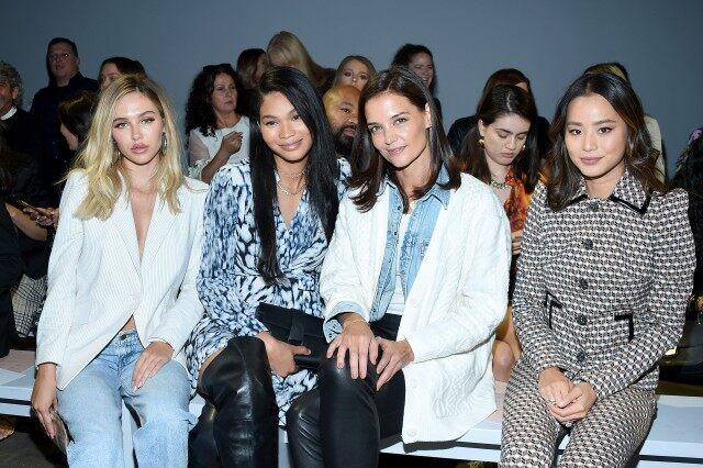 Delilah Belle Hamlin, Chanel Iman, Katie Holmes and Jamie Chung at nyfw