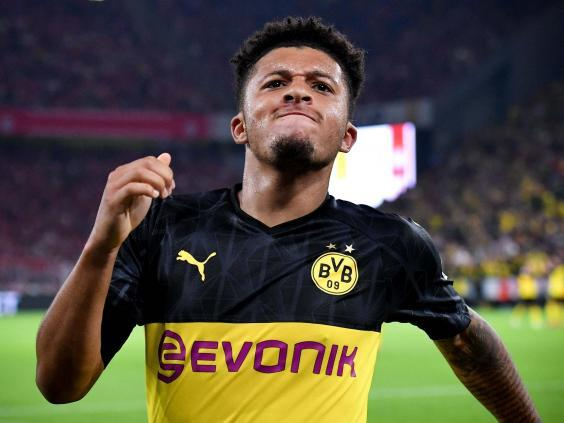 Jadon Sancho has established himself as one of the world's best at Borussia Dortmund (EPA)