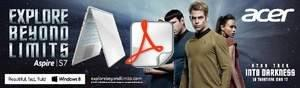 "Acer and Paramount Pictures Unite to Promote Acer Mobile Products and New ""Star Trek Into Darkness"" Movie"