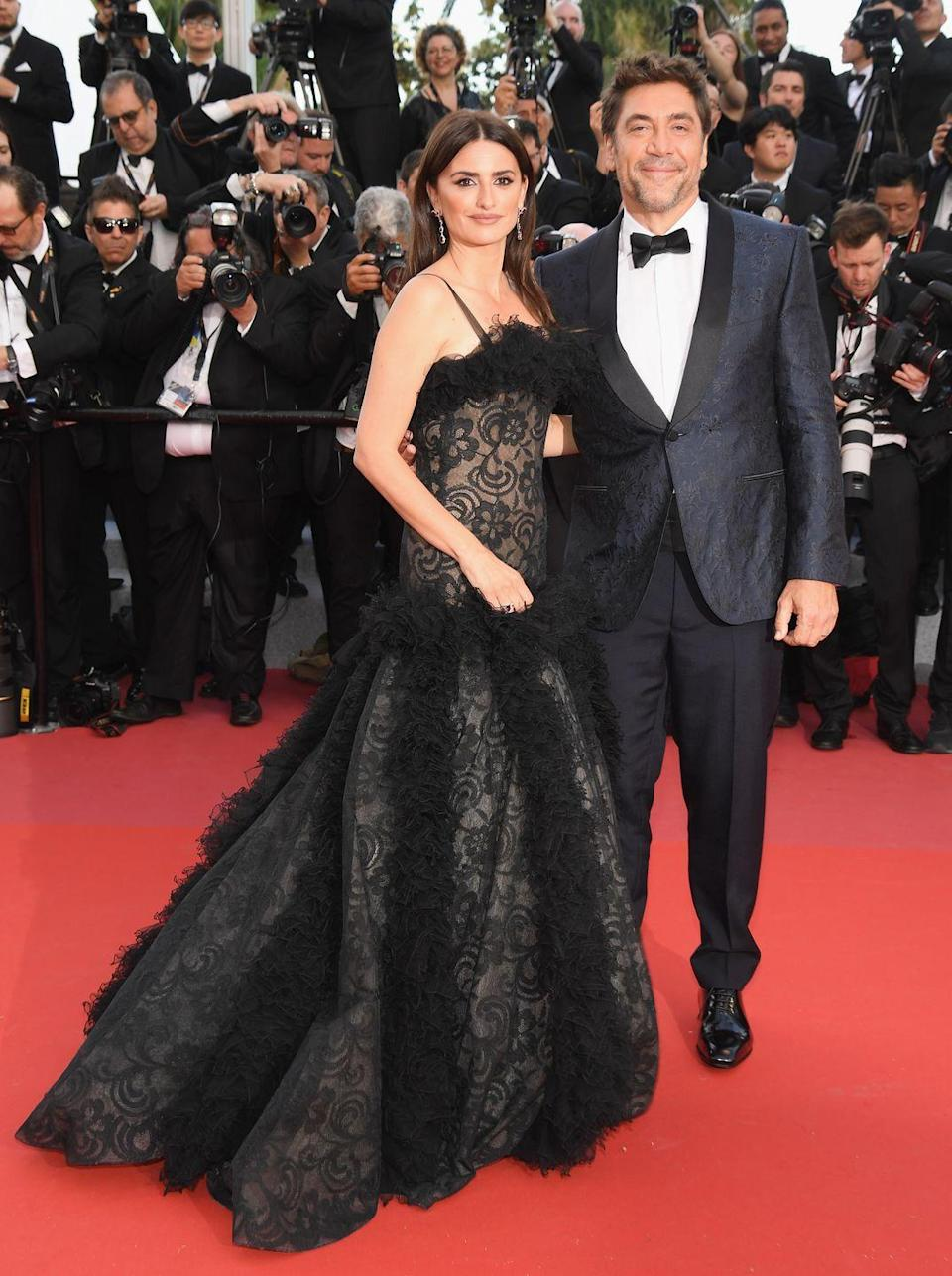 """<p>Penélope and Matthew didn't work out, but she seems rather happy with husband Javier Bardem. The pair met in 1992 on the set of Jamón Jamón, but they fell in love while filming Woody Allen's Vicky Christina Barcelona. The couple became <a href=""""https://www.oprahmag.com/entertainment/a28137116/penelope-cruz-husband-javier-bardem/"""" rel=""""nofollow noopener"""" target=""""_blank"""" data-ylk=""""slk:official in 2007"""" class=""""link rapid-noclick-resp"""">official in 2007</a> but didn't make their first public appearance until 2010. Penélope and Javier wed that same year and have maintained a pretty low-key marriage.</p>"""