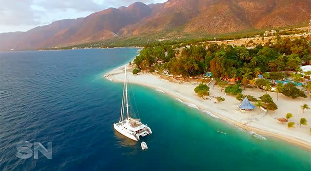 The yacht was moored in front of a resort. Both locations were vital to the operation.