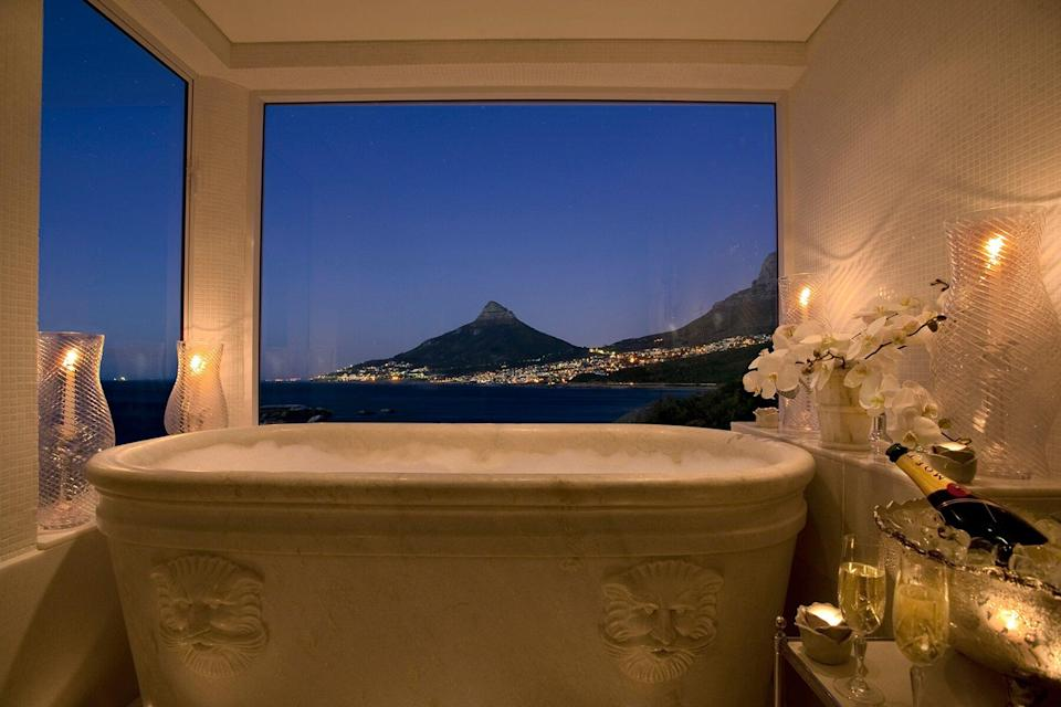 View from a bathroom at Twelve Apostles Presidential Suite